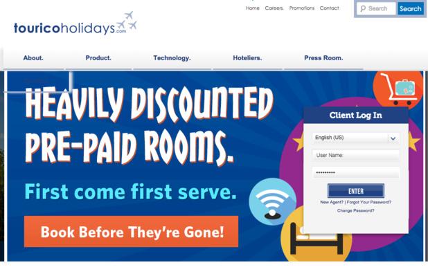 Tourico permet aux agences de réserver près de 50 000 hôtels sur son site B2B. DR-site Tourico