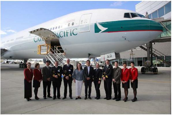 Le 70e B777 a été livré à Cathay Pacific samedi 26 septembre 2015 - Photo : Cathay Pacific