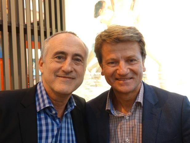 Venin (à gauche) et Gilbert Espitalier-Noel (à droite) - Photo JBH