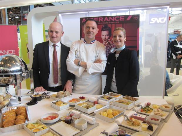 Le chef étoilé François Adamski va cuisiner pour les hommes d'affaires qui voyagent en moyen-courrier sur Air France - DR : LAC