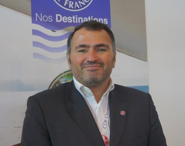 Antoine Lacarrière sur le stand de Croisières de France à l'IFTM Top Resa - Photo CE