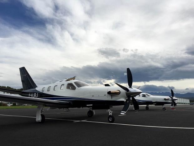 Altijet commencera à voler le 15 octobre 2015 en TBM900 d'une capacité de 4 passagers - Photo : Altijet