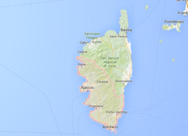 Le trafic aérien progresse nettement en Corse du Sud en septembre 2015 - DR : Google Maps