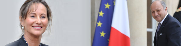 Selon L'Opinion, Ségolène Royal serait en pôle position pour prendre la suite de Laurent Fabius en tant que ministre des Affaires étrangères - Photos : Gouvernement.fr