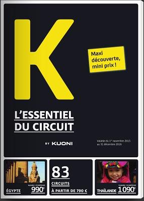 """Kuoni : 5 circuits autocars se font une place dans la brochure """"K"""""""