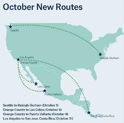 Les 4 nouvelles liaisons d'Alaska Airlines - DR : Alaska Airlines