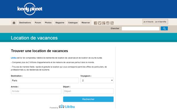 Lonely Planet et Likibu.com s'associent - Capture d'écran