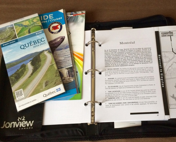 Un road-book personnalisé, créé en fonction du programme, détaille jour par jour l'itinéraire - Photo Jonview Canada