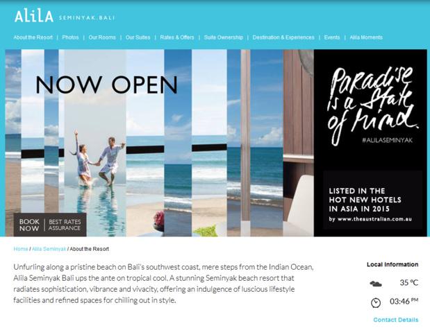 Alila ouvre une 5ème hôtel à Bali