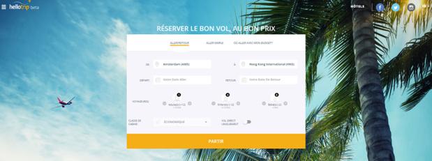 Hellotrip permet de prédire l'évolution des prix des billets d'avion - Capture d'écran