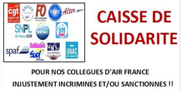 L'intersyndical Air France PS/PN a lancé sa cagnotte sur lepotcommun.fr