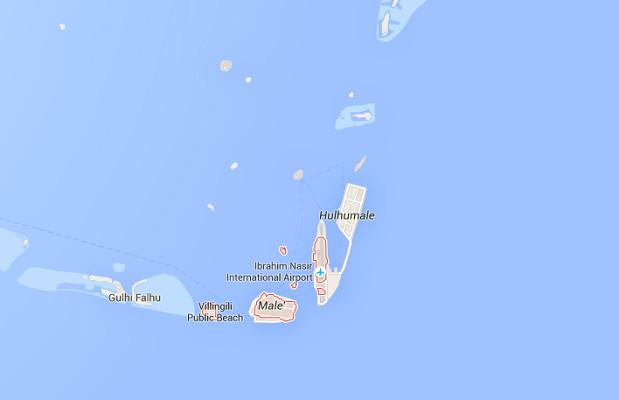 Malé est l'île capitale des Maldives - DR : Google Maps