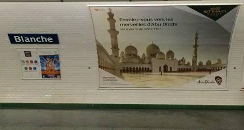 La campagne de l'Office de Tourisme d'Abu Dhabi déploie des visuels dans 150 stations de métro à Paris et dans sa proche banlieue - DR : Visit Abu Dhabi