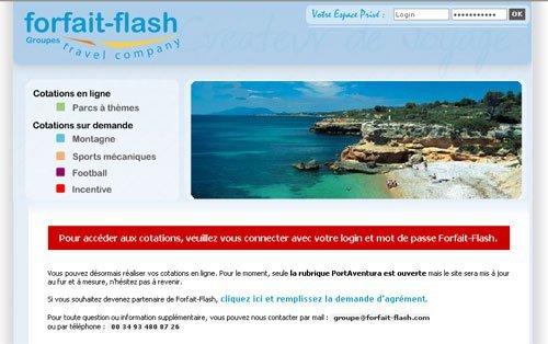 Forfait-Flash : son nouveau site BtoB pour les groupes