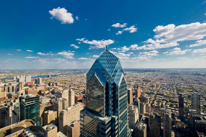 Au 57ème étage du One Liberty Place de Philadelphie (USA), un observatoire conçu et réalisé par M56 - DR