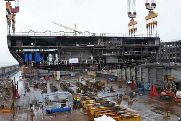 La construction physique du 4e navire de la classe Oasis de RCI est lancée - Photo : RCI/STX