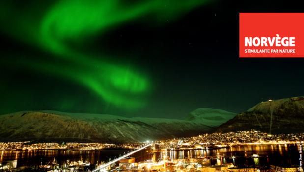 La Norvège communiqué en France en jouant sur la thématique des aurores boréales - DR: Visit Norway
