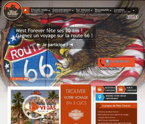 West Forever fait gagner un voyage à moto sur la route 66
