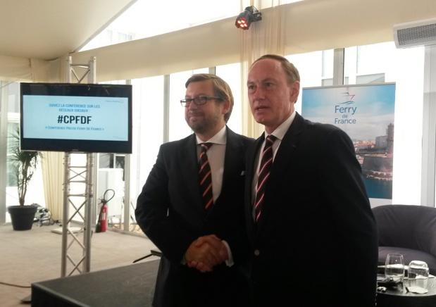 Alexander Panagopulos et Christian Garin, main dans la main pour la reprise de la SNCM - DR : A.B.