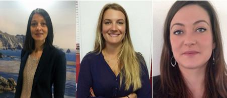 De gauche à droite : Véronique Amsellem, Maïlys de Seze, Léa Brochard - Photos DR