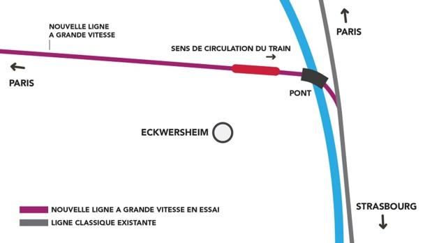 Infographie des lieux de l'accident - DR : SNCF
