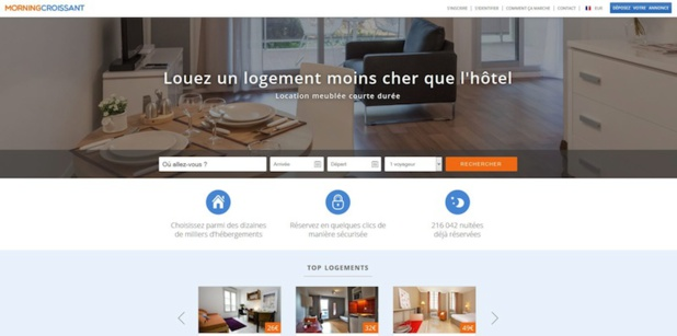 MorningCroissant helps travelers, leisure or corporate, to find accommodations © screenshot