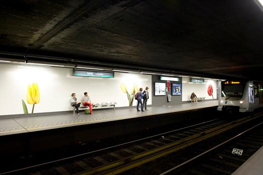 La STIB ferme toutes ses stations de métro ce lundi - Photo : STIB