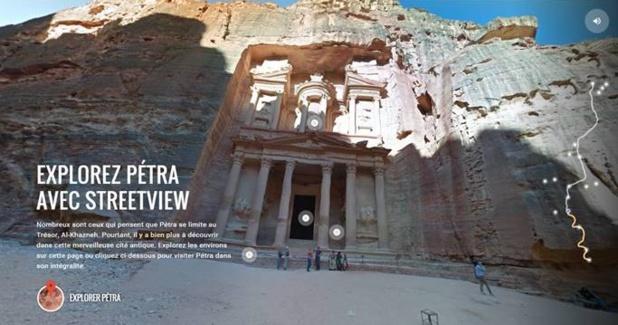 La Jordanie met 30 sites historiques et culturels sur Google StreetView