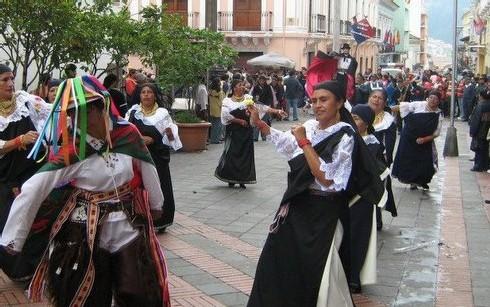 Jour de fête à Quito, capitale d'Equateur
