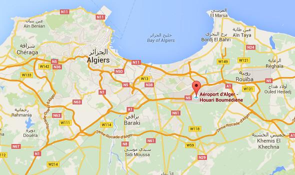 L'aéroport d'Alger prévoit des extensions pour accompagner la hausse de son trafic à venir - DR : Google Maps