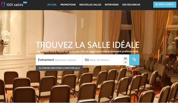 Le site pro de 1001Salles affiche un nouveau design - Capture d'écran