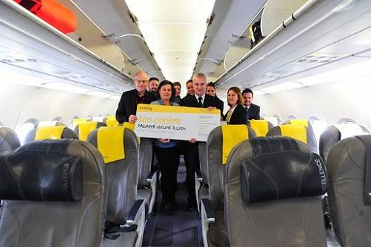 Vueling récompense son 500 000e passager à Lyon-Saint Exupéry - Photo : Vueling