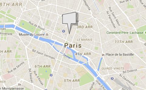Le magasin ephémère ouvre au 35 Rue Quincampoix dans le 4e arrondissement de Paris - DR : Google Maps