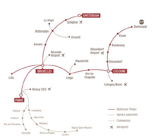 Allemagne : Thalys repousse l'ouverture de sa nouvelle ligne vers Dortmund