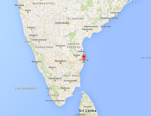 L'aéroport de Chennai ne rouvrira que le 6 décembre 2015 - DR : Google Maps