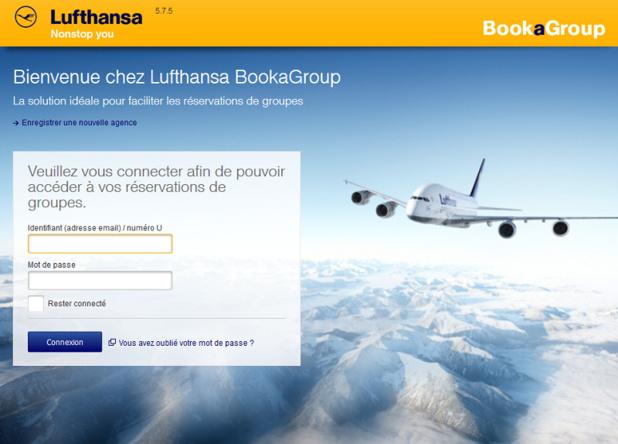 Le nouveau portail dédié aux groupes de plus de 10 personnes développé par Lufthansa - DR capture écran