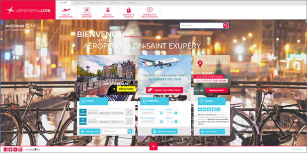 """Le nouveau site Internet d'Aéroports de Lyon se veut """"plus intuitif, moderne et accessible"""" - Capture d'écran"""