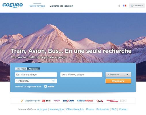 GoEuro va déployer l'ensemble de son produit en France dès janvier 2016 - Capture d'écran