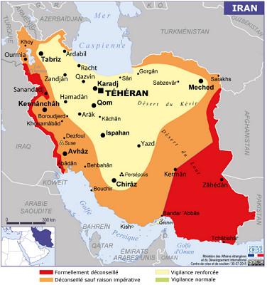 Le Quai d'Orsay met en garde contre le risque terroriste en Iran - DR : Diplomatie.gouv