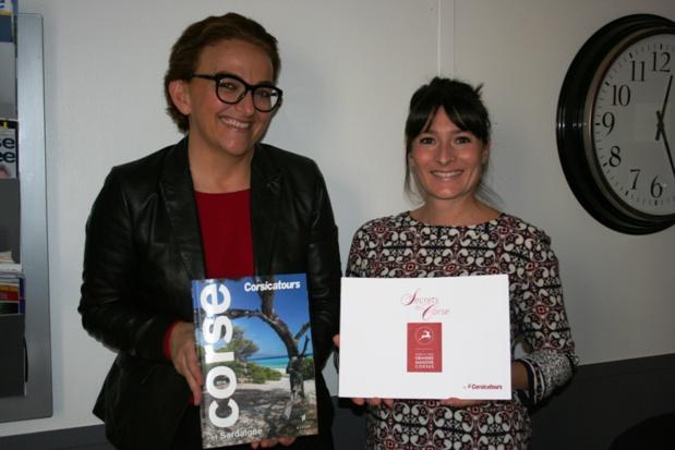 Elisa Manfredi et Sophie Princivalle de Corsicatours. DR-LAC