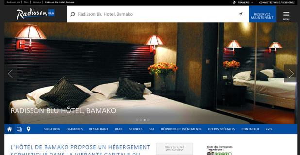 L'hôtel Radisson Blu de Bamako enregistre déjà des réservations pour sa ré-ouverture - Capture d'écran