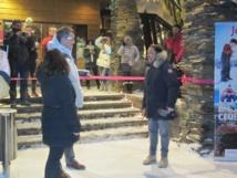 Nicolas Delord procède à l'inauguration du club Ylläs Saaga en Laponie finlandaise - Photo P.C.