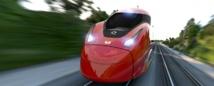 Sur cette photo, le Pendolino, nouveau train construit par Alstom pour l'opérateur privé italien NTV - DR : Alstom