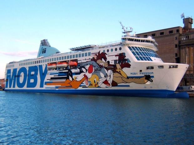 Moby Lines de retour entre la France et la Corse avec une liaison Nice Bastia. DR - Moby Lines.