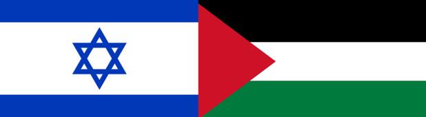 Drapeaux d'Israël et de la Palestine - DR : Wikipedia