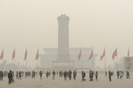 Le niveau de pollution conduit la municipalité de Pékin à y décréter l'alerte rouge - Photo : axz65-Fotolia.com