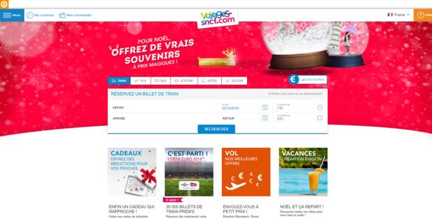 Voyages-sncf.com se prépare à la vente des billets TGV et Intercités pour le printemps 2016 - Capture d'écran