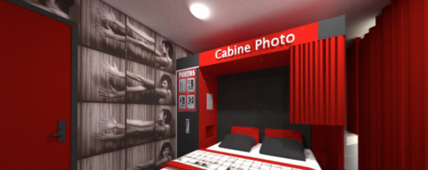 The Déclic Hotel espouses the codes of photography - Photo: Sandrine Alouf Atmosphériste