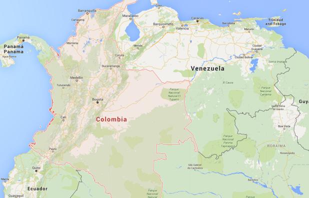 Le Venezuela a décidé de fermer ses frontières terrestres avec la Colombie en août 2015 - DR : Google Maps