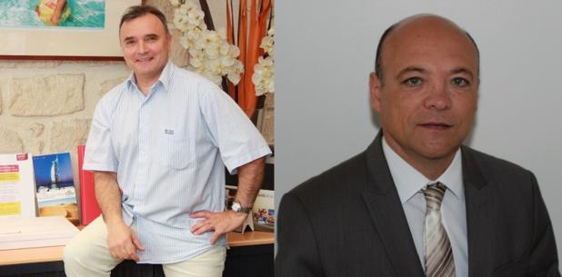 Jean-Marc Gameiro, directeur général de TourExcel et Jean-Marcel Michonet, directeur du voyage d'affaires chez Selectour Vairon Voyages